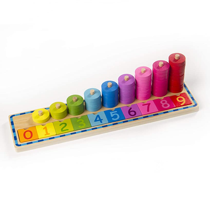 Fat Brain Toys Counting Stacker - Count and Sort Stacking Tower Early Learning Toys for Babies