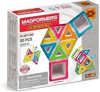 MAGFORMERS 706006 Xl Neon 30Pc Set Building Kits, Neon