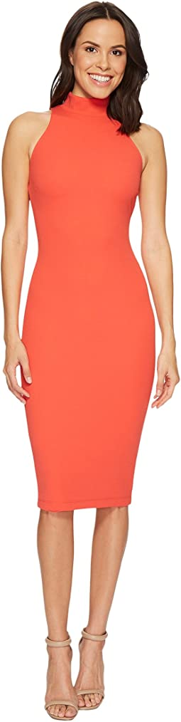 Hale Bob - Strut Your Stuff Stretch Crepe Mock Turtleneck Dress