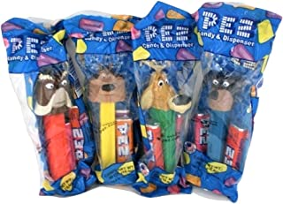 Pez Open Season Candy Dispensers : Mr Weenie Dog, McSqueezy Squirrel, Elliot Deer, Boog Bear Set of 4