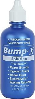REXSOL Bump-X Solution | Treatment of: Razor Bumps, Ingrown Hairs, Razor Burn, Electrolysis/Waxing Redness | For Men & Women. (150 ml / 5 fl oz)