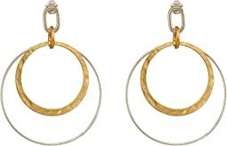 Silver and Gold Mix Hoops Earrings