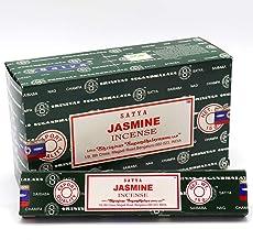 Fresh Nag SATYA Incense Sticks Champa Home Scents Hem Fragrance Bulk Pack 15x15g, Jasmine, 1 Pack (15g)