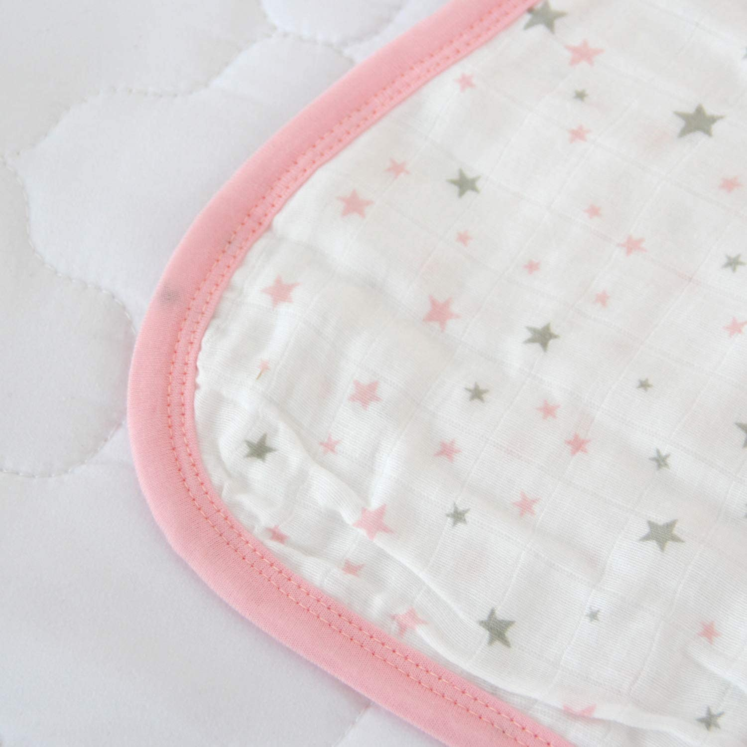 Baby Sleep Bag or Sack 6-12 Months.100/% Cotton Baby Wearable Blanket with 2-Way Zipper,Ideal for Summer 0.5 TOG Pink Star. Softness and Freshness in one Single Fabric Layer.Fits Infants Newborns