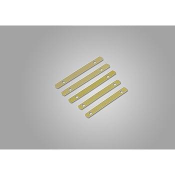 Deckleisten aus Metall Lochung 80mm 95 mm lang 100 St/ück messingfarbig