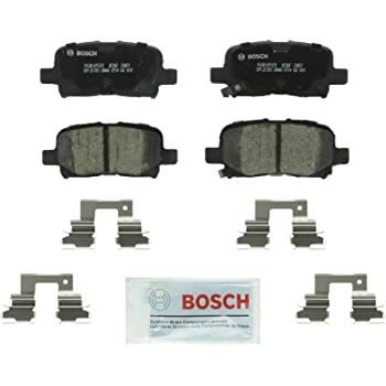 Bosch BC865 QuietCast Premium Ceramic Disc Brake Pad Set For: Acura MDX; Honda Odyssey, Pilot, Rear