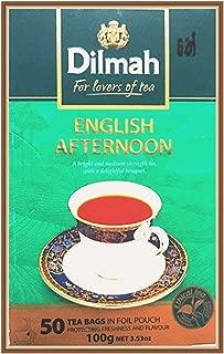 Dilmah English Afternoon Tea - Finest Pure Ceylon Black Tea Box Sri Lanka Dilmah Tea Bags in Foil Pouch - 50 Tea Bags 100g (3.53 oz)