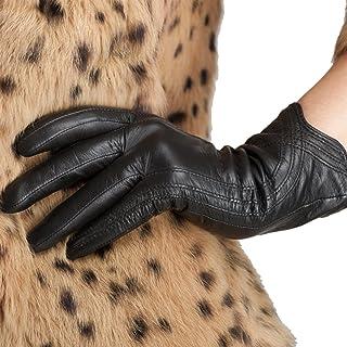 Le donne in stile pulsante Morbido Guanti in Vera Pelle Donna Guanti Inverno Caldo Abito