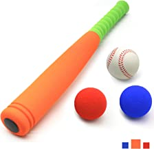 CeleMoon 21-Inch Kids Soft Foam Baseball Bat Toy + Different Colored Balls Included+ Carrying Bag, for Kids Over 3 Years Old