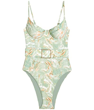 We Wore What Danielle One-Piece (Creme De Menthe) Women