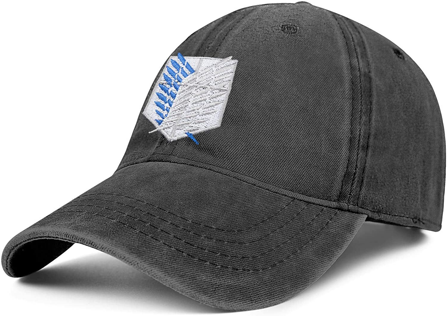 Unisex Adjustable Anime Team Hat Embroidery Baseball Cap Dad Hats Denim Hat Attack on Titan Hat - One Size Fits All