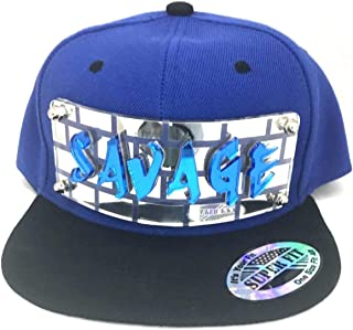 Custom Snapback Hat Create Your Own Name or Words Custom Made Graffiti 3D Letter Hat, Super Fit, Comfortable Six Panel Flat Bill Snap Back, an Exclusive Creation Blue