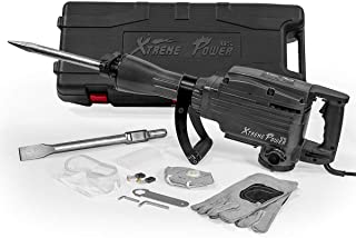 XtremepowerUS Heavy Duty Electric 2200 Watt Demolition Jack Hammer Concrete Breaker Power + (2) Bit Chisel Point w/Case