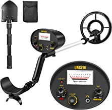 URCERI Metal Detector Waterproof Professional Gold Finder Ultimate Treasure Hunter with Pinpoint Function, Submersible Search Coil & Folding Shovel Included easy for Kids and Adults