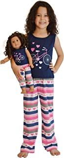 Girl and Doll Matching Outfit Clothes - Tank Top and Sweatpants Set for Girl & Doll