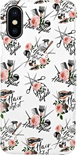 Hairstylist Pattern Hairdresser for iPhone 11 Pro Max - Premium Scratch-Resistant, Shockproof Protective Cute Creative Artistic Design - iPhone 11 Pro Max Case