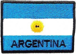 Argentina bandera - Parches termoadhesivos bordados aplique para ropa, tamaño: 7,5 x 5,3 cm