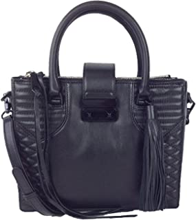 Aliz Mini Tote Quilted Leather Bag, Black