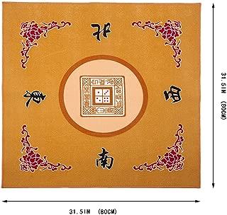 Universal Mahjong / Paigow / Card / Game Table Cover - Yellow Mat 31.5