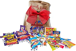 Great British Bag of sweets | 15 BARS & 250G MIX OF RETRO CANDY | British Candy & Chocolate Gifts Cadbury Retro Candy Best of British Candy in Basically British Gift Bag (Regular)