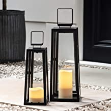 Best metal lantern with battery operated candle Reviews