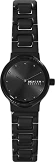 Skagen Freja Women's Black Dial Stainless Steel Analog Watch - SKW2830