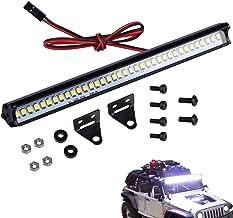 HOPLEX RC LED Light Bar 16LEDs Roof Lamp Simulation Spotlight Kit 5-8.4V 53mm for Traxxas TRX-4 Trx4 Axial SCX10 90046 RC4WD D90 RC Car Crawler Truck