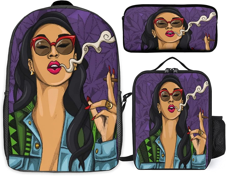 Stoner Art Three-piece set of schoolbag student st National products + 5 ☆ popular