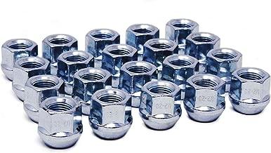 WheelGuard 1104, Zinc Finish, Open-end Acorn Bulge Lug Nut, 1/2-20 Thread, 3/4