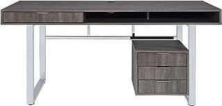 Coaster Home Furnishings 4-drawer Writing Desk Weathered, Grey