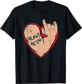 I love Heavy Metal Heart T-Shirt for 80s 90s Music Lover