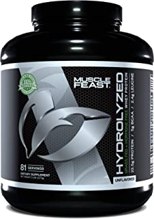 Sponsored Ad - Muscle Feast Grass Fed & Hormone Free Hydrolyzed Whey Protein (Unflavored, 5lb)