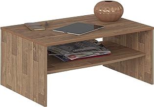 Artely Austin Coffee Table, Rustic Brown - W 91 cm x D 60 cm x H 40.5 cm