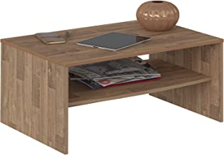 Artely Austin Coffee Table, Rustic Brown, 40.5 x 91 x 60 cm