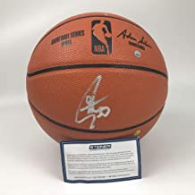 Autographed/Signed Stephen Curry Golden State Warriors Full Size Spalding Basketball Steiner Sports COA