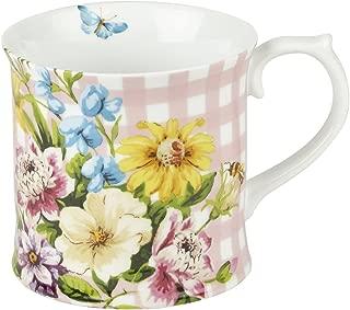 "Katie Alice ""english Garden"" Porcelain Pink Mug By Creative Tops, 350ml (12 Fl"