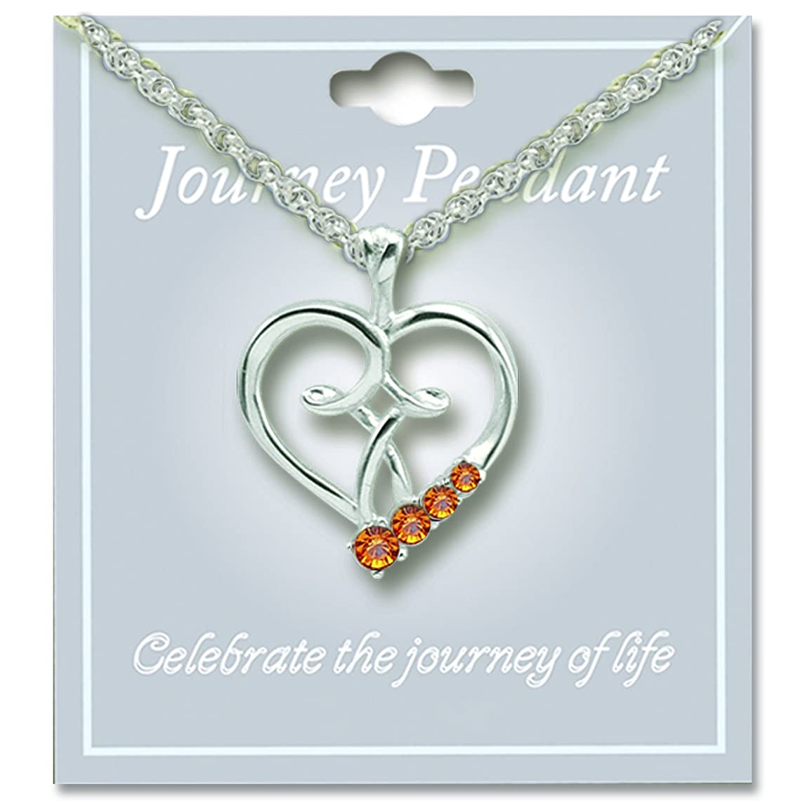 Cathedral Art JP211 November Topaz Birthstone Pendant with 18-Inch Silver Chain fifc8183075592