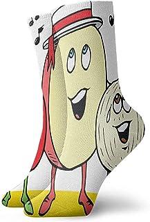 iuitt7rtree, Calcetines de Equipo Imágenes de Dibujos Animados Calcetines atléticos de diseño Cojín Anti Olor bacteriano Calcetines Cortos de Arranque