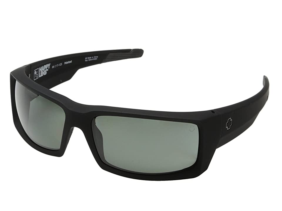 Spy Optic General (Soft Matte Black/Happy Gray Green Polar) Sport Sunglasses