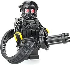 Battle Brick Custom Heavy Gunner Minigun Soldier (SKU69) Minifigure