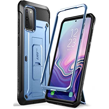 SUPCASE UB Pro Series Designed for Samsung Galaxy S20 Plus Case / S20 Plus 5G Case (2020 Release), Full-Body Dual Layer Rugged Holster & Kickstand Case Without Built-in Screen Protector (MetallicBlue)