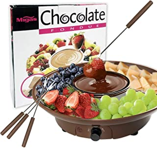 Chocolate Fondue Maker - 110V Electric Chocolate Melting Pot Set with Stainless Steel Bowl, Serving Tray, 4 Steel Forks, B...