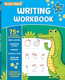Writing Workbook for Ages 4-7 with 75+ Activities, Pencil Control, Lowercase Letters, Numbers, Capital Letters, Words and ...