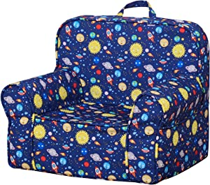 Babyland Full Foam Kids Sofa Blue 3.3LB Sponge Safety and Soft Armchair Couch for 1-3 Years Baby with Washable Cover