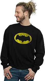 DC Comics Men's Batman TV Series Distressed Logo Sweatshirt