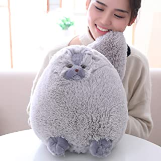 Winsterch Kids Cats Stuffed Animal Toys Plush Cat Toys Birthday Gift,Plush Pillow,Gray,12 Inches