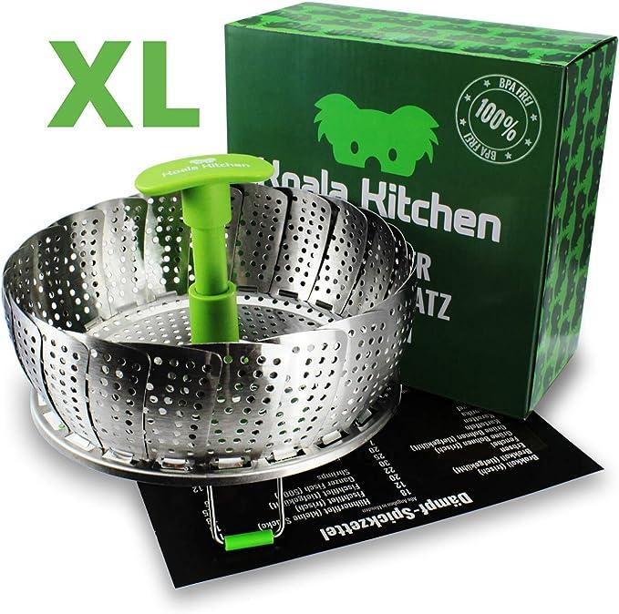 263 opinioni per Koala Kitchen, cestello per cottura a vapore, in acciaio inox, per pentole da