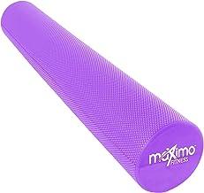 Maximo Fitness Rodillo de Espuma Largo – 6 x 36 Pulgadas (15 cm x 90 cm) – Tipo Trigger Point Herramienta de Auto Masaje para Casa, Gimnasia, Pilates, Yoga – Instrucciones Incluidas. (Azul - 90 cm)