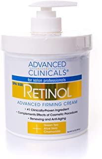 Advanced Clinicals Retinol Cream Spa Size For Salon Professionals Moisturizing Formula Penetrates Skin To Erase The Appear...