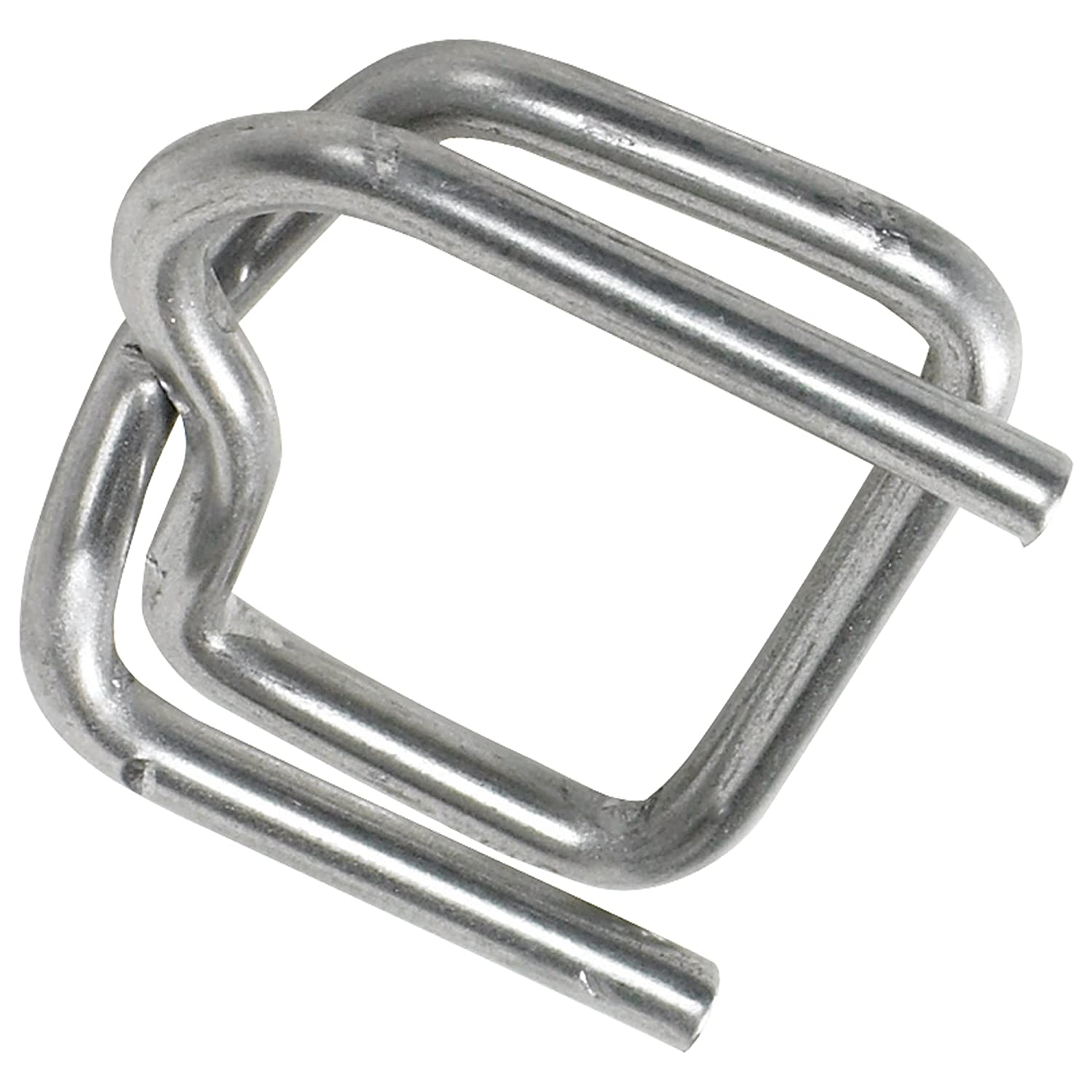 Heavy-Duty Wire Poly Strapping Buckles 1000 Case 2' Award Indefinitely Silver 1